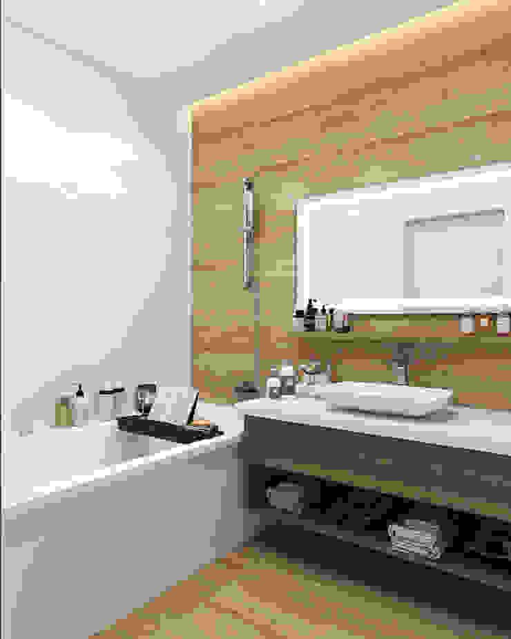 Студия дизайна интерьера квартир в Киеве belik.ua Minimalist style bathroom