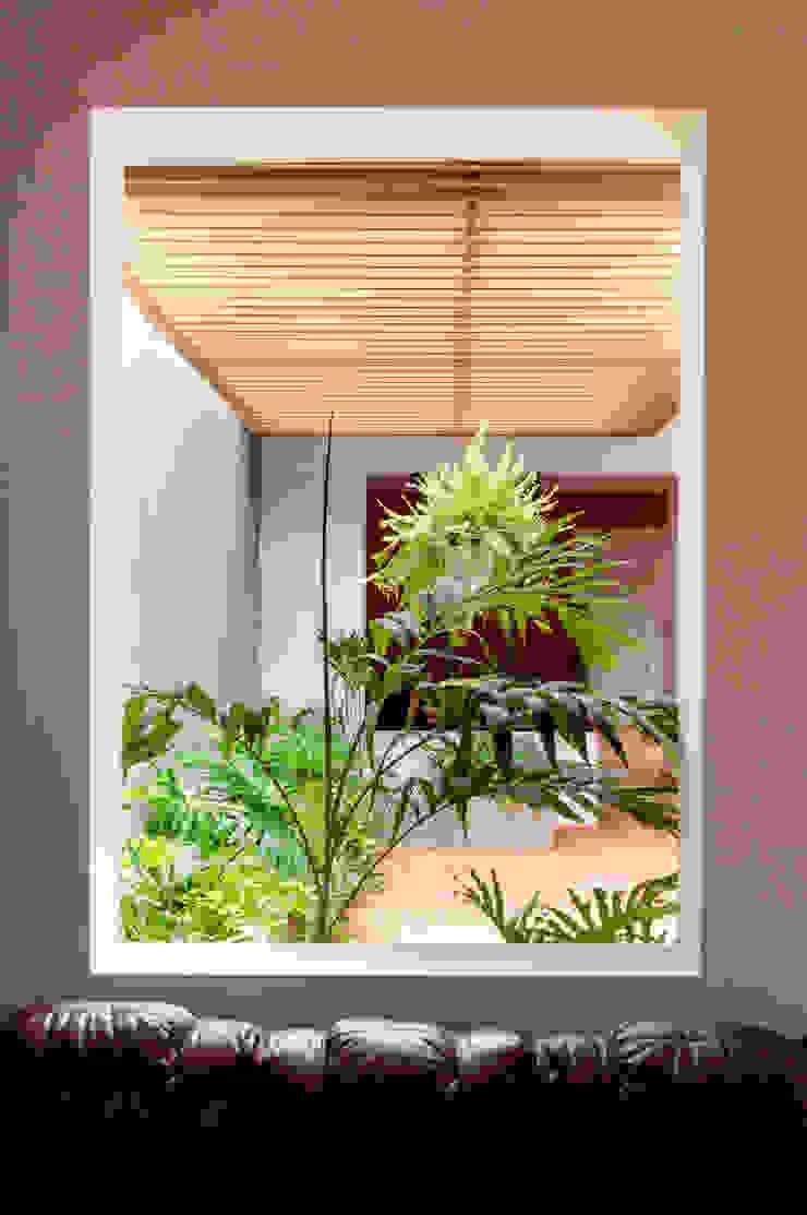 Al encuentro de la luz, utilizando los patios de la vivienda reformada para iluminar y ventilar naturalmente las oficinas de A. Ordóñez Arquitectura Moderno