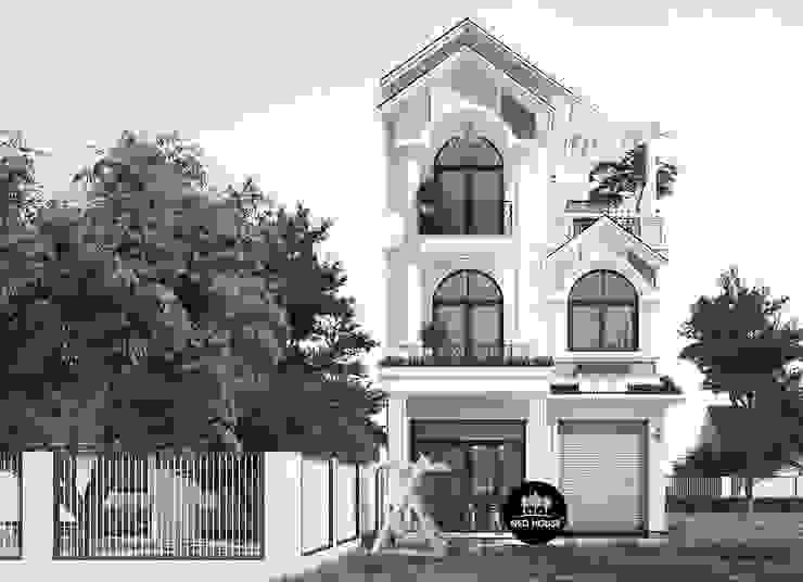 Mẫu biệt thự 3 tầng mái thái đẹp phong cách hiện đại tại An Giang bởi NEOHouse