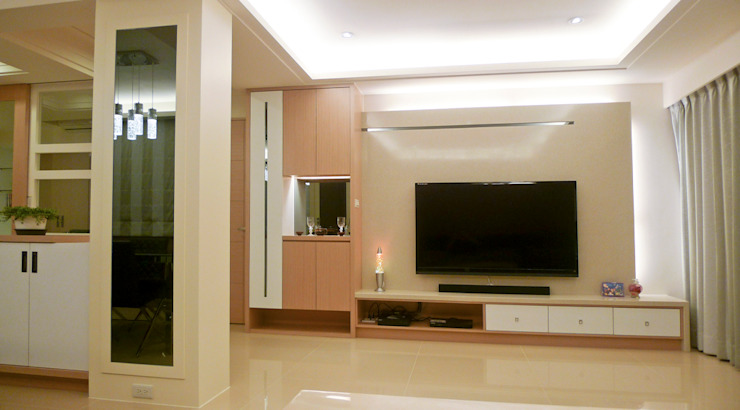 客廳室內裝修設計 现代客厅設計點子、靈感 & 圖片 根據 亞晨室內裝修設計工程有限公司 現代風