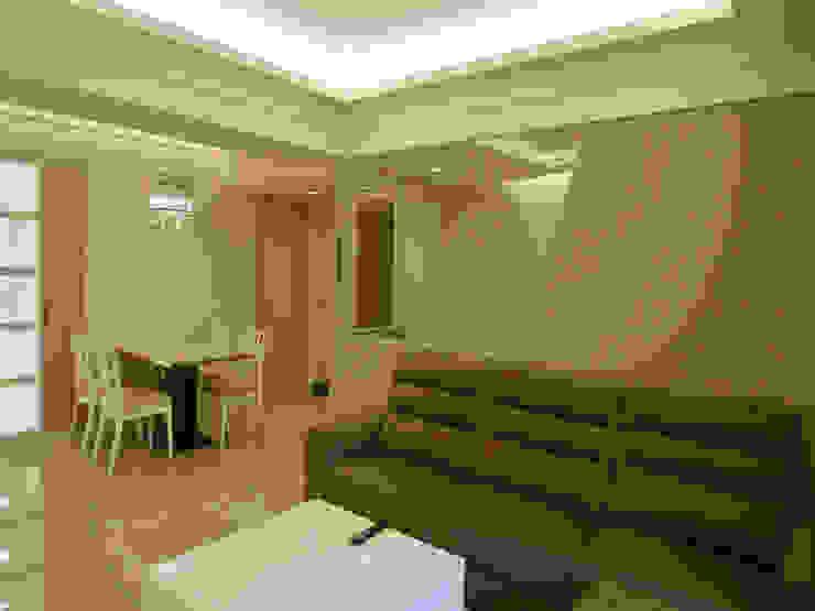 舊屋大翻新 现代客厅設計點子、靈感 & 圖片 根據 亞晨室內裝修設計工程有限公司 現代風
