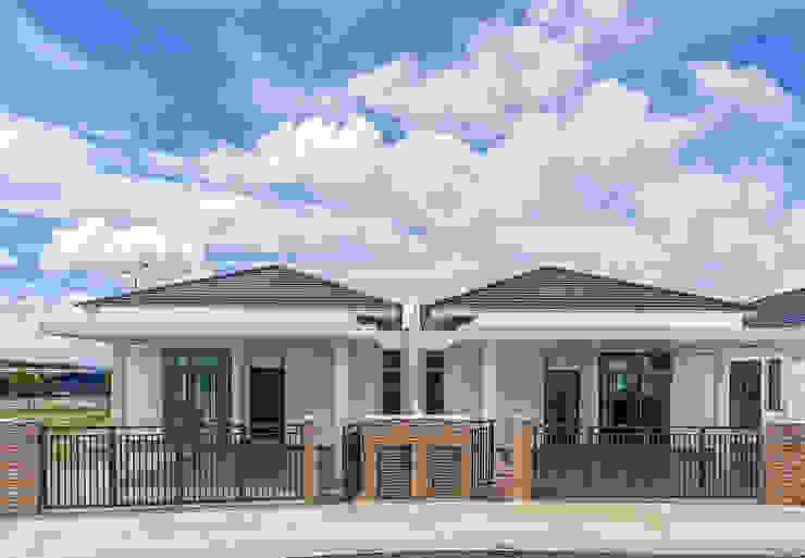Single Storey Semi Detached Houses Architect T.Y. Au Commercial Spaces Bricks White