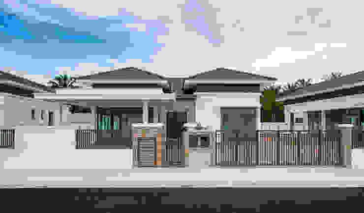 Single Storey Bungalow Architect T.Y. Au Commercial Spaces Bricks White