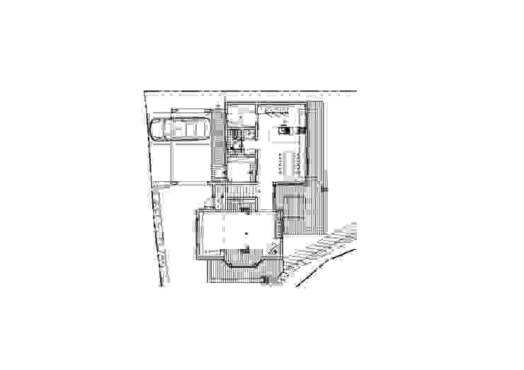 강상면 신화리 양평목조주택 다온하우스 1층 평면도: 위드하임의 현대 ,모던