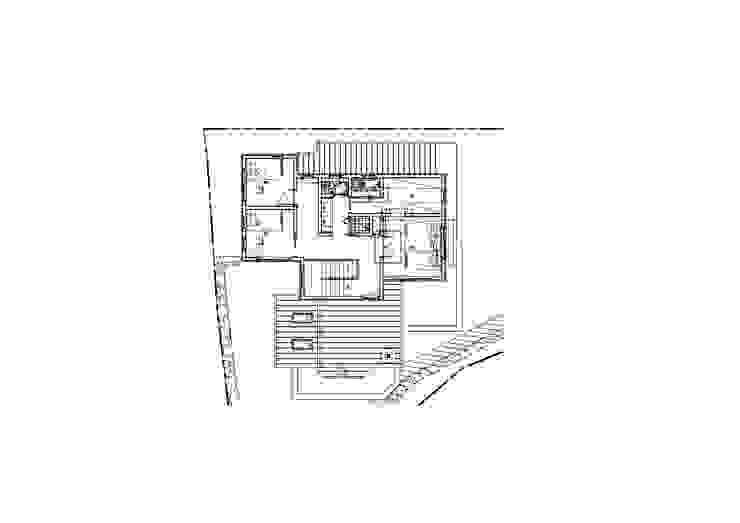 강상면 신화리 양평목조주택 다온하우스 2층 평면도: 위드하임의 현대 ,모던