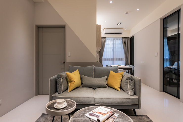 大安Vision B4 现代客厅設計點子、靈感 & 圖片 根據 達力設計有限公司 現代風