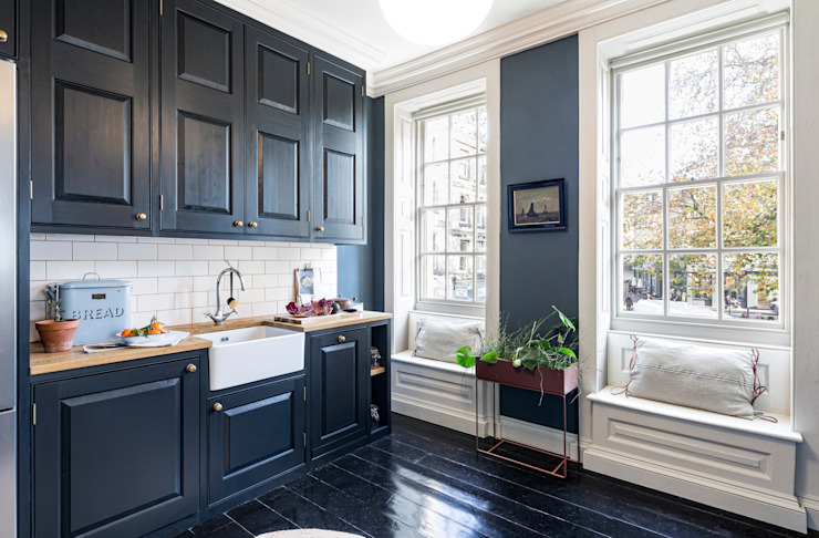 Rosewell House, Bath WN Interiors + WN Store Modern kitchen Blue