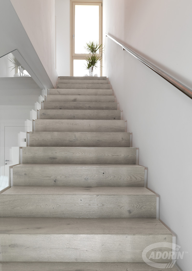 Ideas for combining stairs and parquet Cadorin Group Srl - Italian craftsmanship production Wood flooring and Coverings Stairs