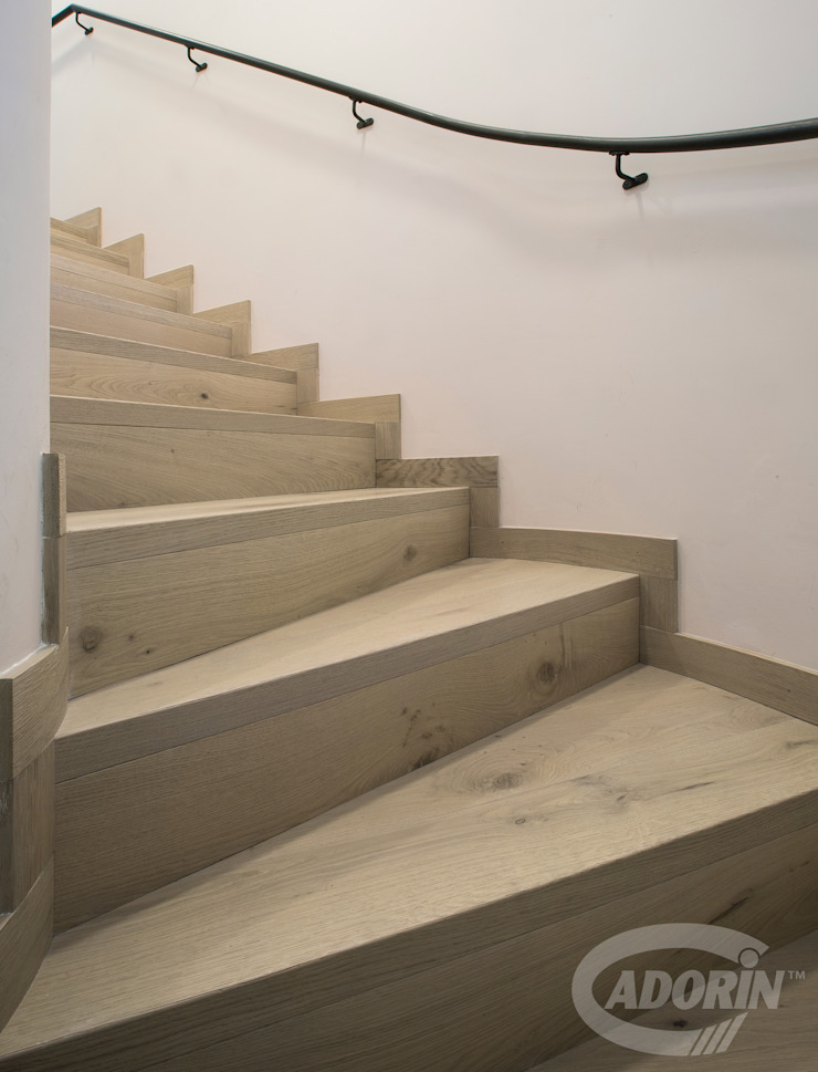 Ideas for combining stairs and parquet by Cadorin Group Srl - Top Quality Wood Flooring Сучасний