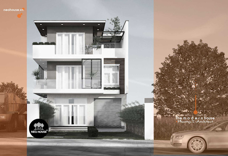 Mẫu thiết kế biệt thự đẹp 3 tầng hiện đại sang trọng tại tphcm bởi NEOHouse