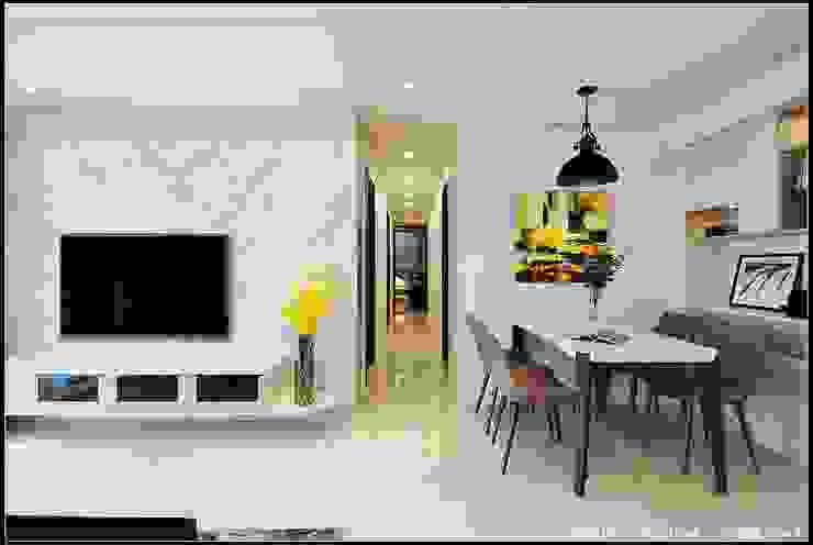 步康橋 现代客厅設計點子、靈感 & 圖片 根據 品寓設計 現代風