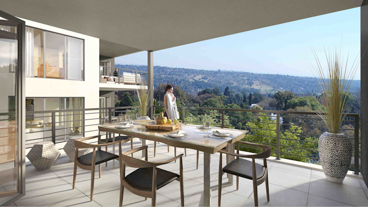 Patio by Inclusive Design Architects Modern