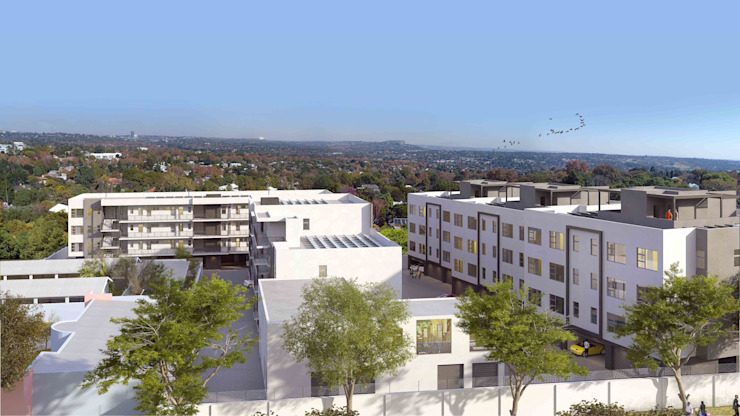 Development view by Inclusive Design Architects Modern