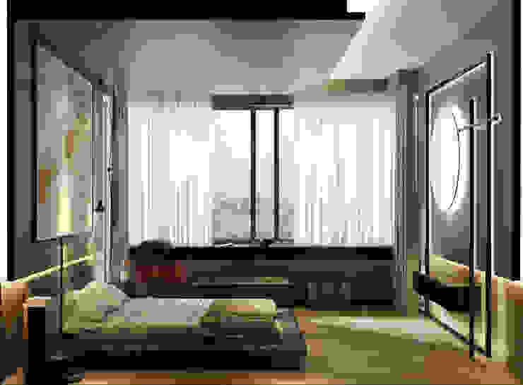 WALL INTERIOR DESIGN モダンスタイルの寝室