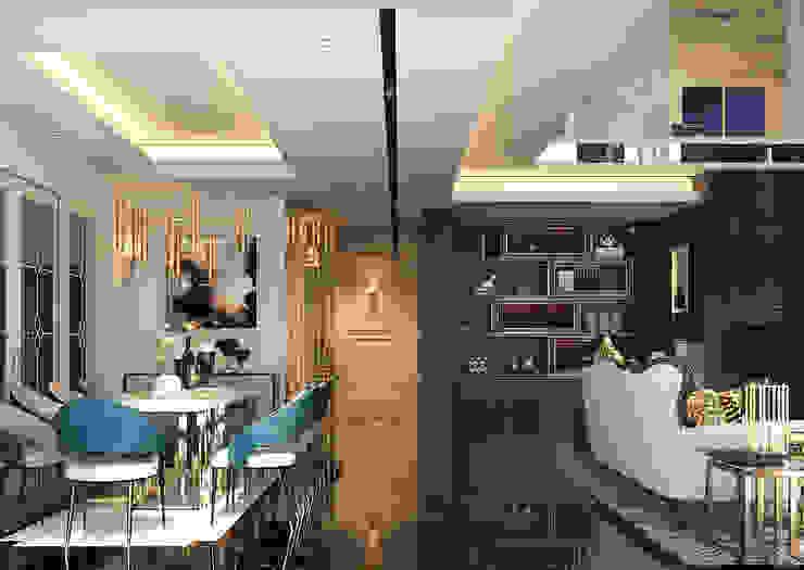 Norm designhaus Pasillos, vestíbulos y escaleras de estilo clásico