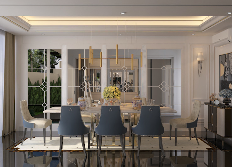 Jentayu, Nilai Classic style dining room by Norm designhaus Classic