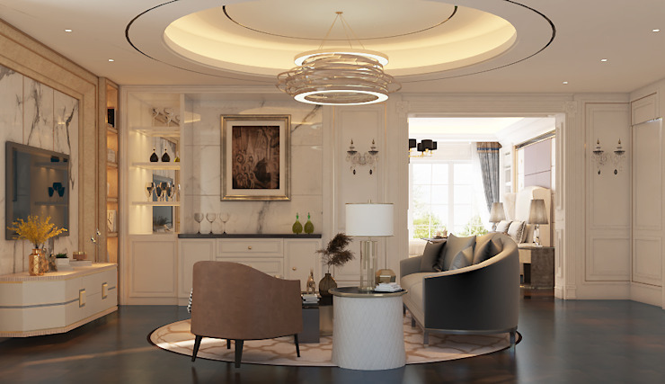 Norm designhaus Salas de estilo clásico