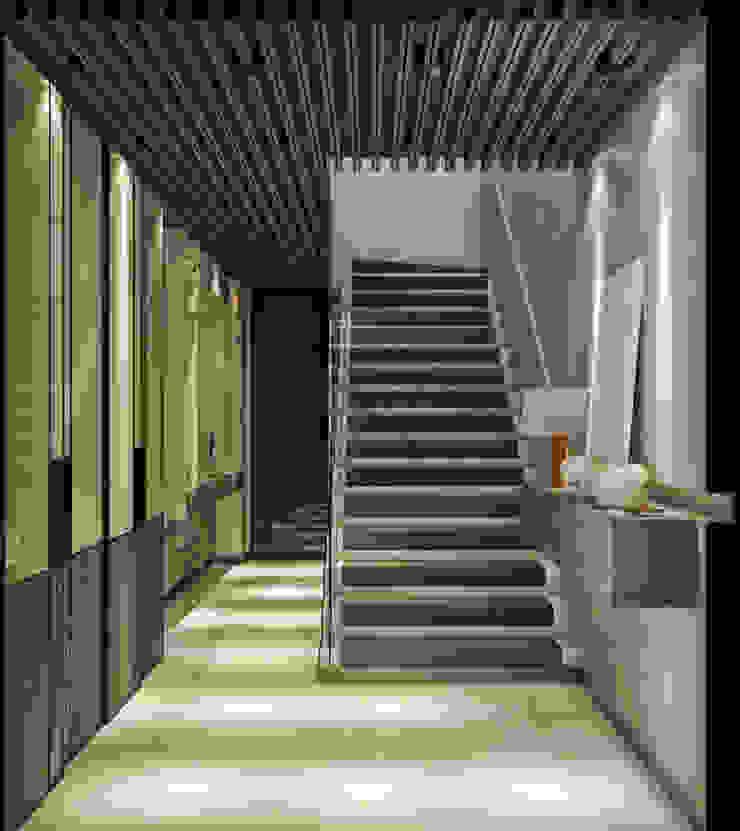 WALL INTERIOR DESIGN Moderner Flur, Diele & Treppenhaus