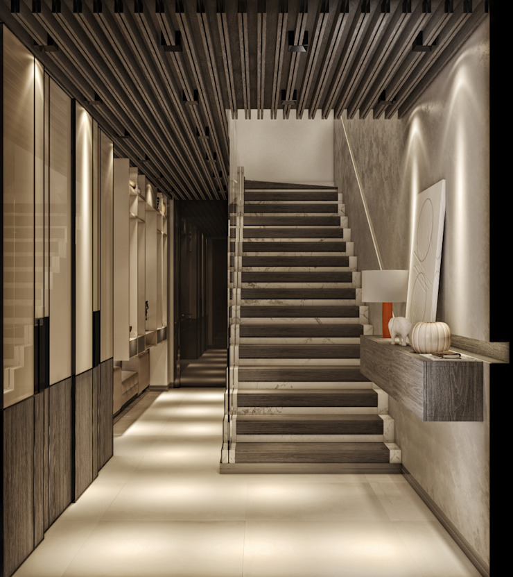 KORİDOR Modern Koridor, Hol & Merdivenler WALL INTERIOR DESIGN Modern
