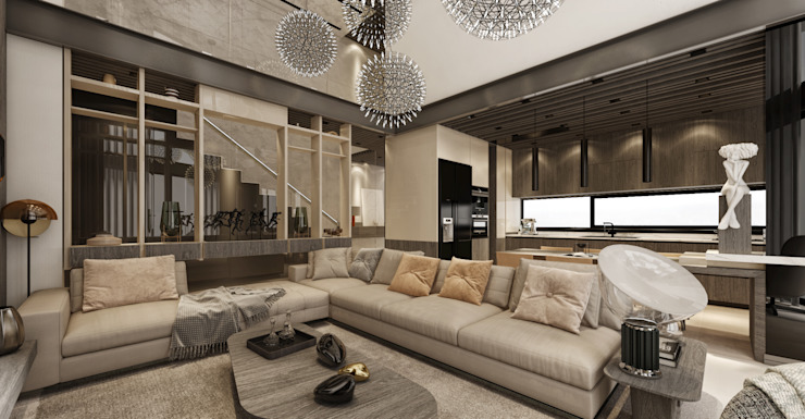 WALL INTERIOR DESIGN Salones de estilo moderno