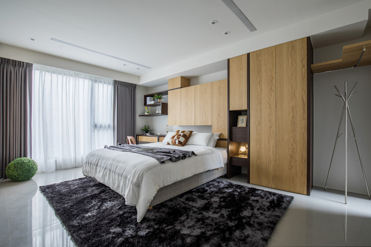 Minimalist bedroom by 宏立室內裝修設計 Minimalist