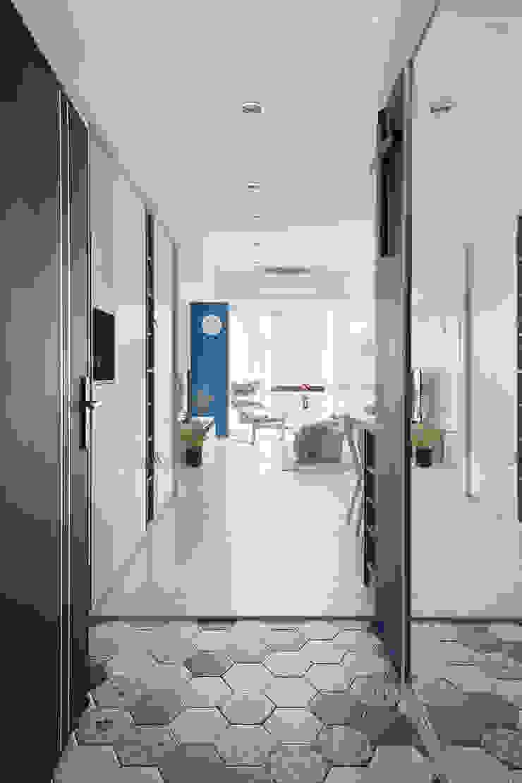 靚 斯堪的納維亞風格的走廊,走廊和樓梯 根據 知域設計 北歐風