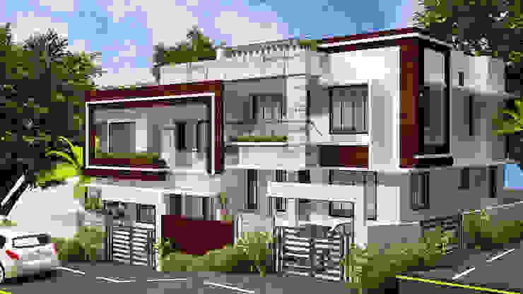 Contemporary Style House by I Nova Infra Modern Stone