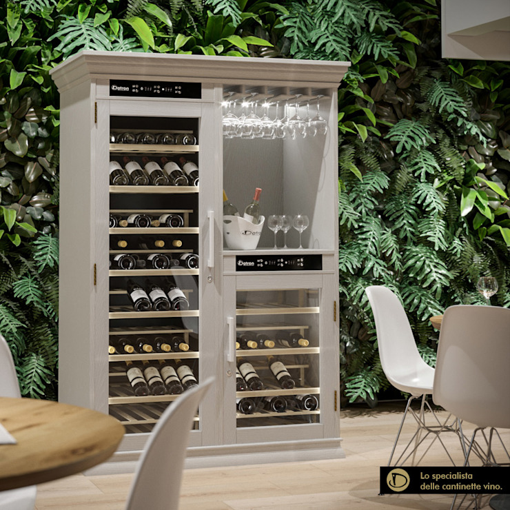 Cantinetta Vino Datron in legno Cantina moderna di Datron   Cantinette vino Moderno