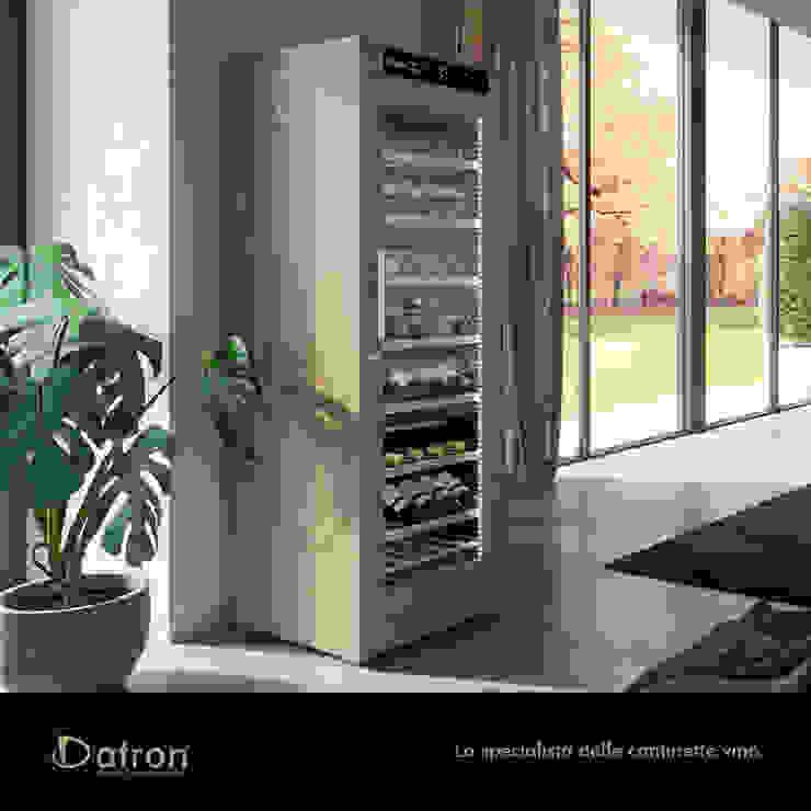 Cantinette Vino Datron in legno, 108-146 bottiglie bordolesi Cantina moderna di Datron   Cantinette vino Moderno