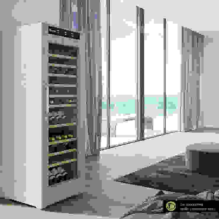Cantinette Vino in legno bianco, 108-146 bottiglie bordolesi Cantina moderna di Datron   Cantinette vino Moderno