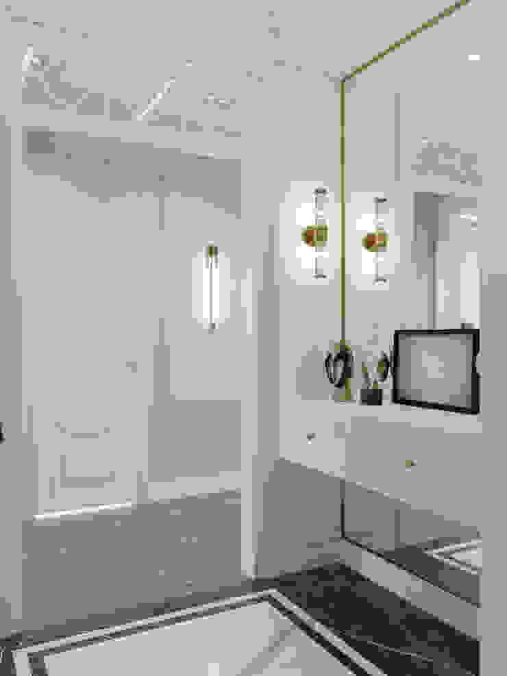 Pasillos, vestíbulos y escaleras clásicas de Rubleva Design Clásico