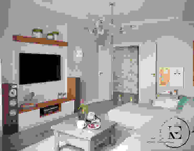 Гостиная в стиле неопрованс Гостиная в стиле кантри от IvE-Interior Кантри
