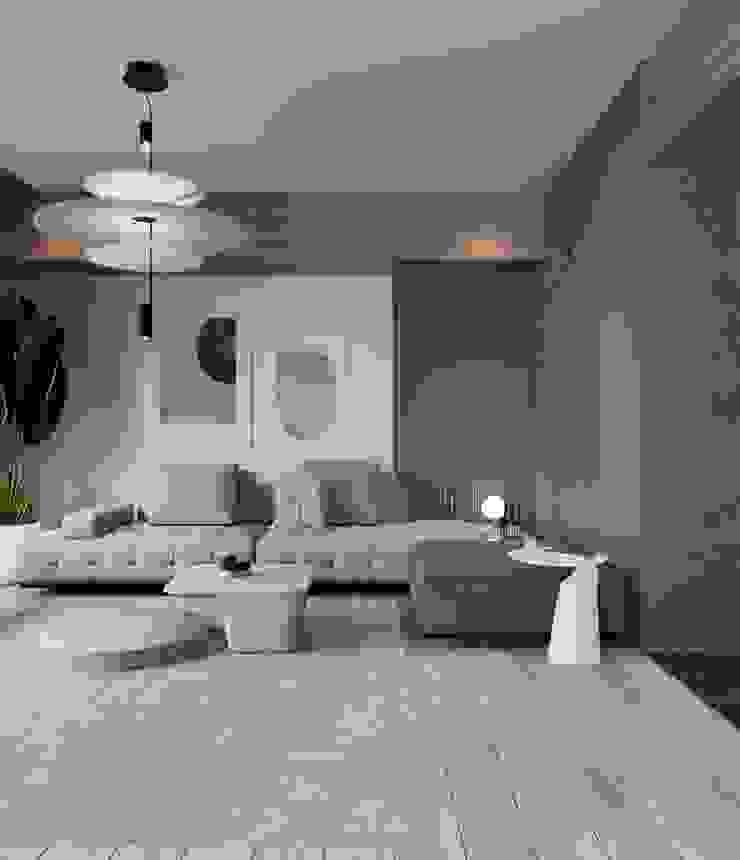 Murat Aksel Architecture Kitchen units Concrete White