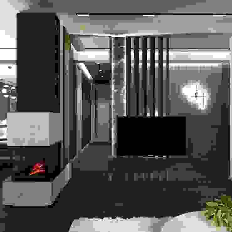 Murat Aksel Architecture Modern Living Room Wood Grey