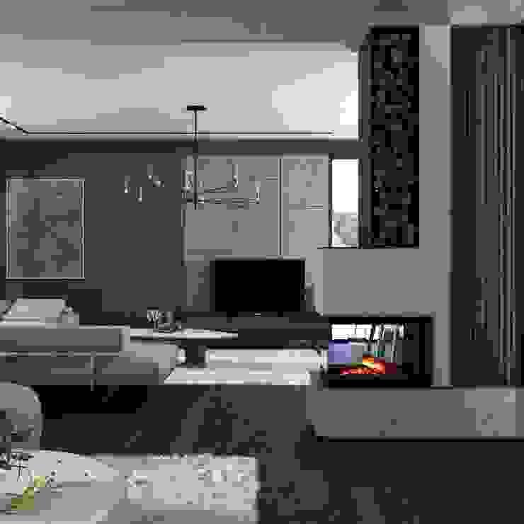 MODERN HOUSE / TOKAT Modern Oturma Odası Murat Aksel Architecture Modern Ahşap Ahşap rengi