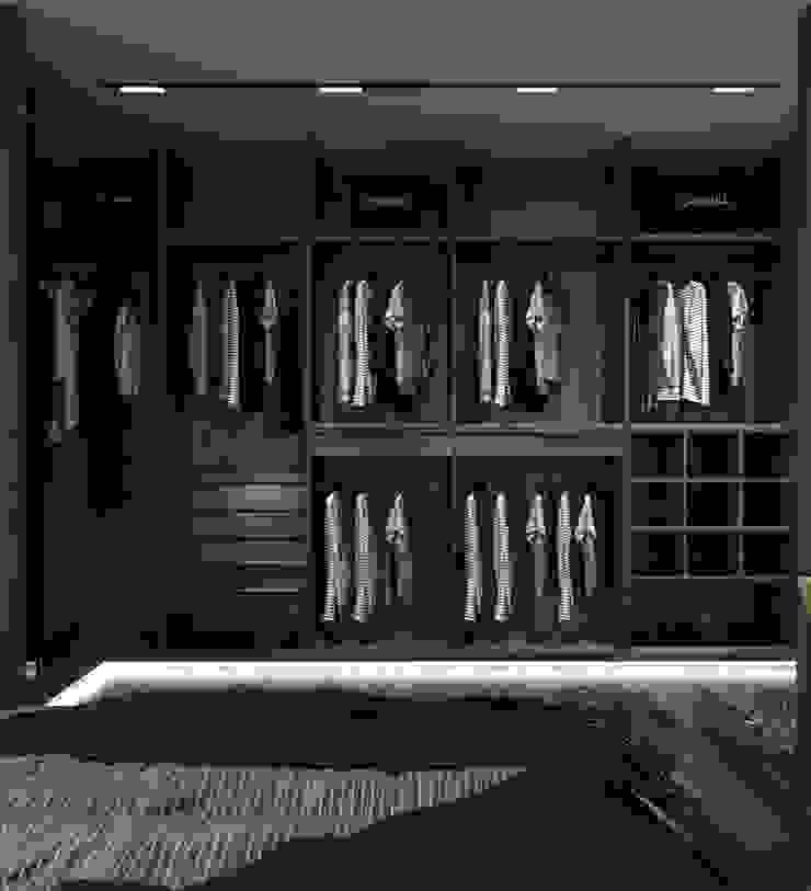 Murat Aksel Architecture Modern Dressing Room Wood Black