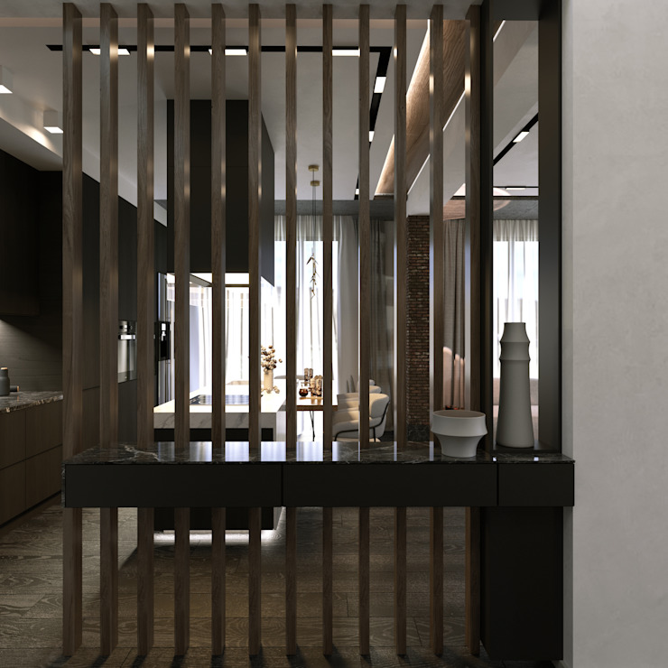 Murat Aksel Architecture Modern Corridor, Hallway and Staircase Wood Wood effect