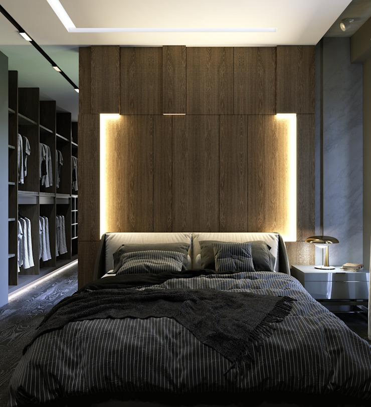 Murat Aksel Architecture Small bedroom Wood Wood effect