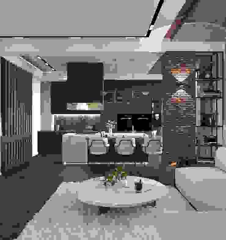 Murat Aksel Architecture Kitchen units Marble White