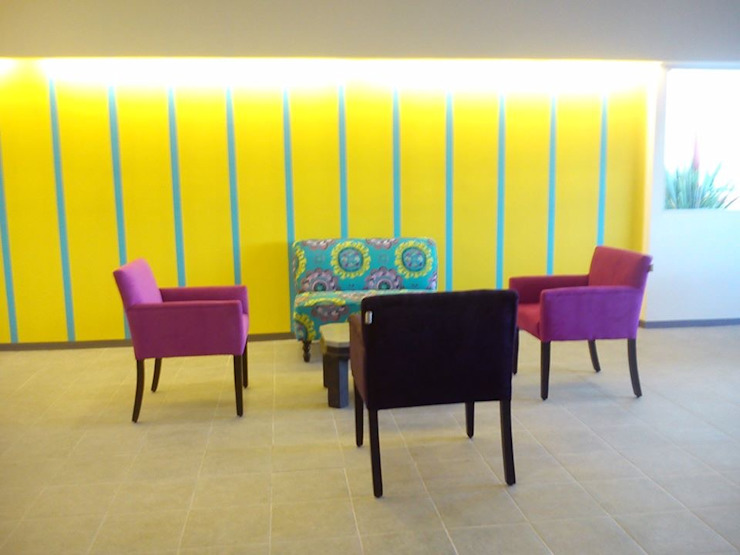 Imagen en arquitectura y construcción Modern Living Room Yellow