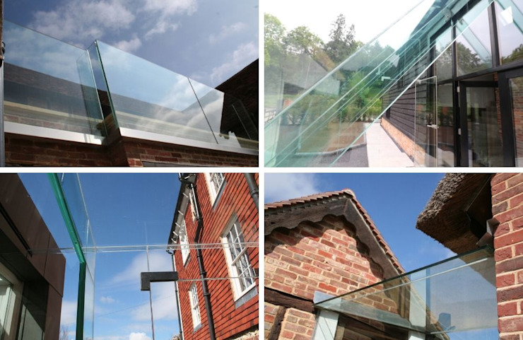 Glass structures in heritage homes by Ion Glass Minimalist Glass
