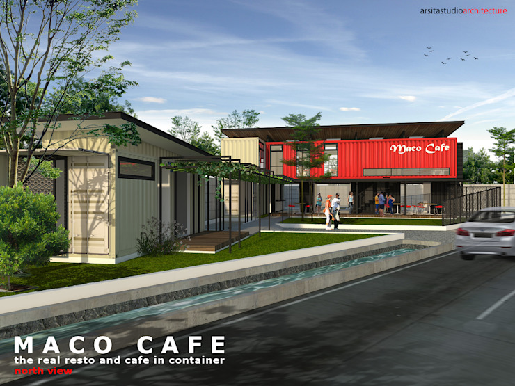 Kafe Kontainer Oleh ARSITA STUDIO architecture
