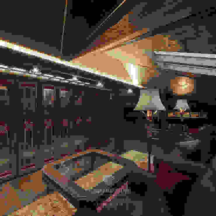 Студия дизайна интерьера Руслана и Марии Грин Oficinas y bibliotecas de estilo clásico