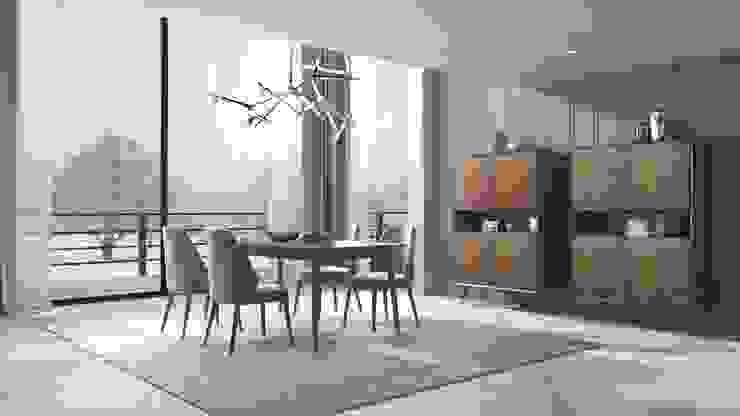 Visão geral da sala de jantar Madeira Negra Sala de jantarBuffets e aparadores Madeira Acabamento em madeira