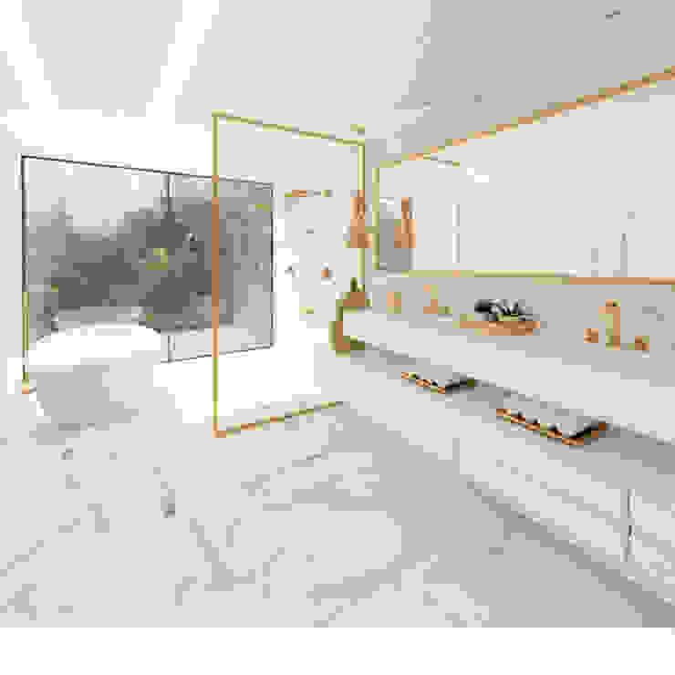 WC SPA Haus. arquitetos associados Banheiros modernos Branco