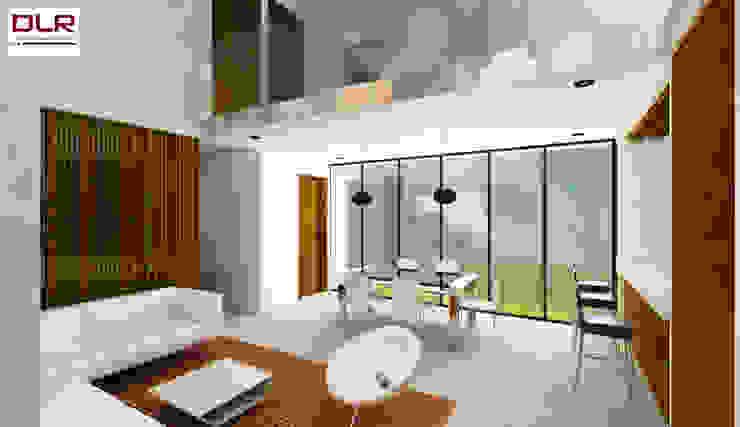 DLR ARQUITECTURA/ DLR DISEÑO EN MADERA Minimalist living room Wood