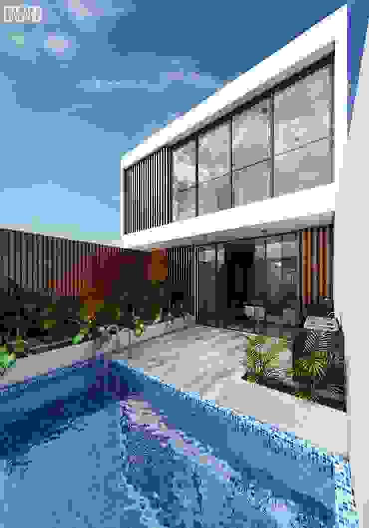 Casa Paracas Balcones y terrazas modernos de Crearq Studio Moderno