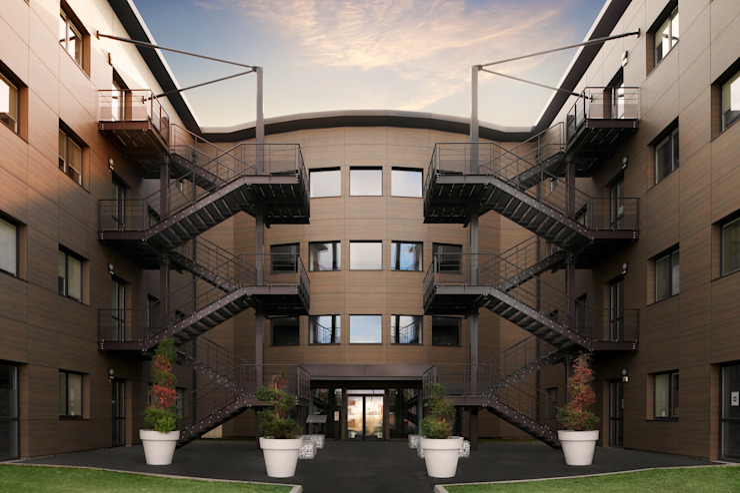 Green Park1-Bourgoin-Jallieu Espaces de bureaux modernes par ADskillphotos Moderne