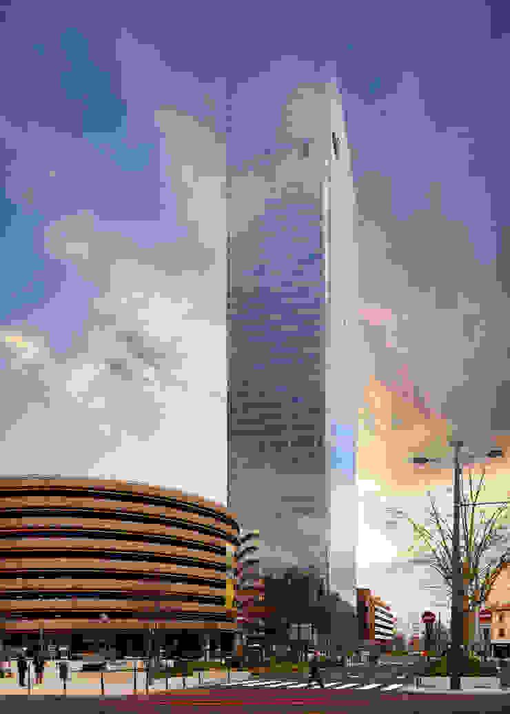La tour Incity Espaces de bureaux modernes par ADskillphotos Moderne