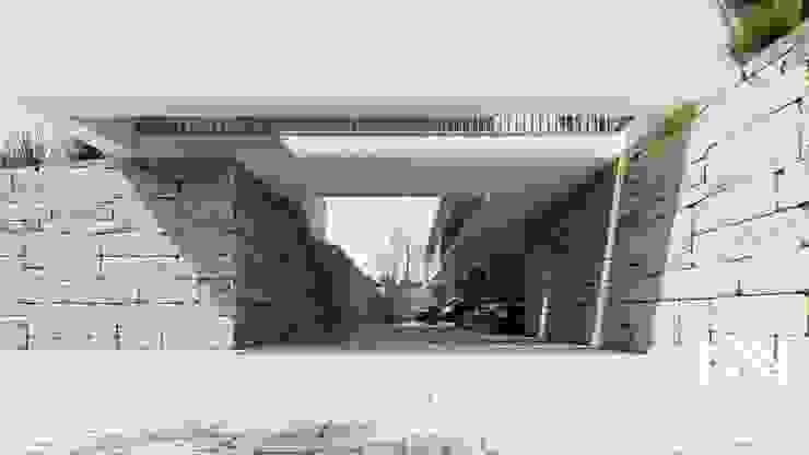 Garajes de estilo moderno de ARTEQUITECTOS Moderno